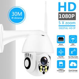 Wifi Pan Zoom Camera Australia - Wireless Wifi IP Camera 1080P PTZ Outdoor Speed Dome Security Camera Pan Tilt 5X Digital Zoom Network CCTV Surveillance