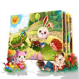 $enCountryForm.capitalKeyWord Australia - 60 PCs Wooden Pattern Puzzle Blocks Toys Fairy Tale Story Puzzle Classic Educational Intelligence Development Toys for Kids
