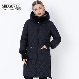 Original Parkas Australia - MIEGOFCE 2018 New Collection Winter Women Jacket Coat Original Fur Collar Women Parkas Fashion Brand Womens Cotton Padded Jacket T190610