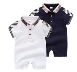 $enCountryForm.capitalKeyWord Australia - Designer label Newborn Baby Boy Girls Rompers Toddler Kids Jumpsuits Infant Bebes Overalls Children Costumes Baby Romper