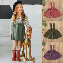 plaid suspender dress UK - 2020 Brand New Toddler Baby Kid Girl Dress Tutu Skirt Suspender Wedding Party Outfit Clothes Overall Skirts 1-6Years