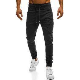 Male Full Belt Australia - good quality 2019 Brand New Men's Trousers Big Code Fashionable Pants For Male Slant Pocket Tether Belt Pure Color Casual Pants Trouser