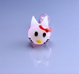 cat hand pipes NZ - Small girls Cute Cat glass Hand pipes hello Kitty Smoking Glass tobacco Pipes Dry herb Pipe for smoking