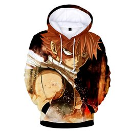 fairy tail prints Australia - Dropshipping Full range Fairy Tail print Hoodie Sweatshirts Cosplay Harajuku Fairy Tail Hooded High Quality boy girl Clothes