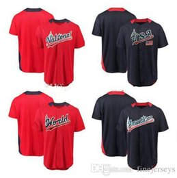 world games Canada - .2018 All-Star All-Star American League Navy National League Red Game Home Run Derby Team Jersey USA World Futures Baseball Jersey fine