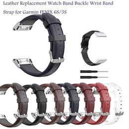 replacement leather strap NZ - Quick Release Strap Leather Replacement Watch Band Buckle Wrist Band Strap for Garmin FENIX 6S 5S Smart Wrist Strap#G1