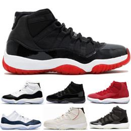 new concept 9b4fd 5ad3b 11 11s Bredo Concord 45 Legend Blue Basketball Shoes 72-10 Hombre Mujer  Gorra y bata Prom Night Space Jam gana como 96 Sport Sneaker With Box