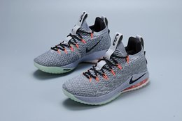 bc5dadd102c0 2018 James Ashes Ghost Lebron 15 Basketball Shoes Arrival Sneakers 15s Mens  Casual 15 King James sports shoes LBJ EUR 40-46 No box