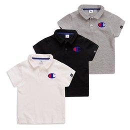 06b0cf9a70d 2019 Summer new Boys T-shirt designer kids letter printed casual tops  fashion boy polo shirt children lapel short sleeve cotton Tees F4891