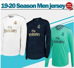 soccer jersey real madrid away Australia - 19 20 Real Madrid Long Sleeve home #7 HAZARD #9 BENZEMA Soccer Jerseys full sleeve away soccer shirts 3rd green Football uniforms