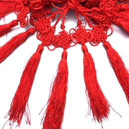 chinese porcelain pendants Canada - 22cm Tassel Fringe Chinese Arts and Crafts Plastic Jade Tassels Decoration Chinese Knot Pendant Gift Present Home Decor