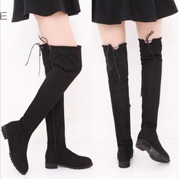 Boots Above Australia - SLHJC Women Long Boots Low Square Heel Round Toe Side Zip Above Over The Knee Spring Autumn Boots Shoes Plus Size