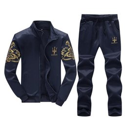Zipper Technology Australia - Wholetide Simple Fashion Embroidery Technology Sweatshirt Wash And Wear Treatment Mens Sweat Suits Comfortably Mens Designer Tracksuits