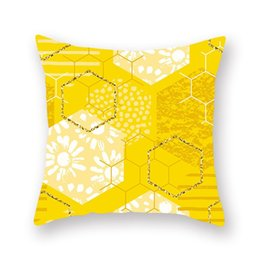 hospital chairs Canada - Yellow Diamond Wave Cushion Covers Geometric Throw Pillow Case for Home Chair Sofa Decoration Square Pillowcases