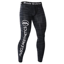 skinny trousers NZ - Compression Tight Pants Mens Gyms Fitness Bodybuilding Leggings Male Jogger Workout Skinny Trousers Crossfit Sportswear Bottoms