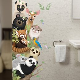 large forest wall stickers Australia - 2020 Cartoon Forest Animals Wall Stickers for Bedroom Kids room Nursery Living room Eco-Friendly Self-adhesive Door Wall Decals