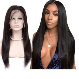 straight afro wigs NZ - lace Front Human Hair Wigs for Black Women Brazilian Afro Natural Straight Remy Short Lace Frontal Wig Pre Plucked Long length 360 lace wig