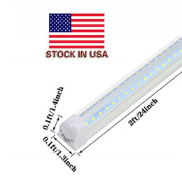 Light bar cabinets online shopping - Super Bright White T8 LED Light Fixture FT lm W Under Cabinet Lighting k White Ceiling and Utility Shop Light with us plug