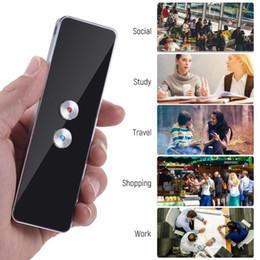 Vente en gros Mise à jour T8 Traducteur vocal portable 41 langues bidirectionnelle en temps réel Langue interprète sans fil Bluetooth étude Traduction automatique Voyage