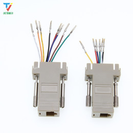 Pin Db9 NZ - DB9 female to-RJ12 female adapter for computer connection of 9-pin serial port equipment