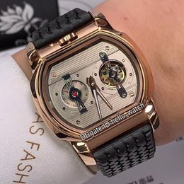 $enCountryForm.capitalKeyWord Australia - Cheap New L.U.C Engine One H 168560-3001 Silver Dial Tourbillon Automatic Mens Watch Rose Gold Case Rubber Strap Classic Racing Watches G01