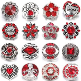 $enCountryForm.capitalKeyWord NZ - New Interchangeable Jewelry DIY Ginger Charms Flower 18mm Metal Snap Buttons fit Snap Button Bracelet Snaps Jewelry