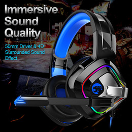 Computer Wireless Headphone Microphone Australia - Gaming Headphones Stereo Noise Cancelling Headsets Studio Headband Microphone Earphones With Light For Computer PC Gamer EACH A66