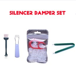 Damper Kit Australia - Mechanical keyboard sound damper 5 Kit,rubber mute O ring+big and small key cap puller+MX axis puller+ keyboard cleaning brush