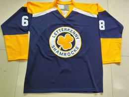 Raro Vintage Personalizar Letterkenny Shamrocks Hockey Jersey Bordado Costurado qualquer número e nome Jerseys venda por atacado