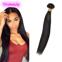 Straight one piece hair extenSionS online shopping - Brazilian Virgin Human Hair Peruvian Indian Malaysian Straight Hair Piece Hair Extensions One Bundle Double Wefts