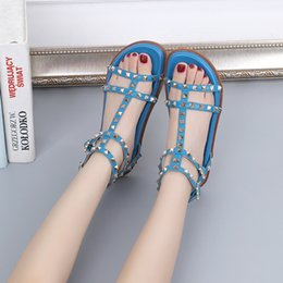 67eb483d8d1ae1 Gladiator sandals rivet buckles online shopping - 2019 new sell best trendy  fashion Luxury shoes women