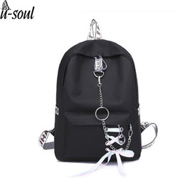 Travel Gifts For Women Australia - Women Pure Color Backpack Casual Shoulder Bag Students Schoolbag For Teenage Girls Backpack Solid Black Vintage Travel Gifts