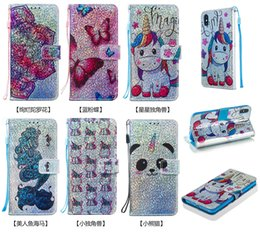 $enCountryForm.capitalKeyWord Australia - Unicorn wallet phone case for Samsung Galaxy Note10 pro drop-proof bling glitter butterfly flap with lanyard support leather case