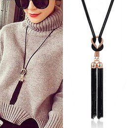 Necklaces Pendants Australia - Tassel Pendants Necklaces For Women Hyperbole Sweater Long Collares Fashion Jewelry American & European Style 2018 Bijoux