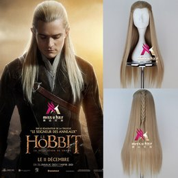 Mans Small Wig Australia - The Hobbit Prince Men Long Straight Movie Anime Cosplay Wig with braid