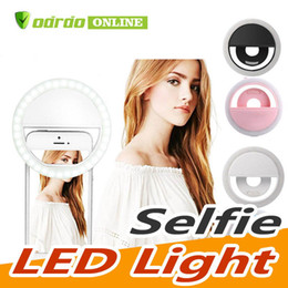 portable flashes UK - Portable Rechargeable 36 Led Ring Selfie Light Photography Flash for iPhone 5 5S 6 7 Samsung Xiaomi Smartphone Camera Flashlight