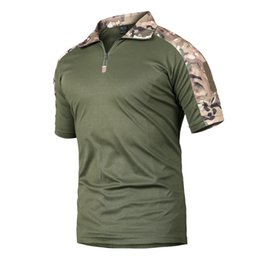 Camouflage T Shirt Men Polyester Australia - New 2018 Summer Tactical Camouflage T Shirt Men Quick Dry Military Uniform T-shirt Breathable Wicking Army Combat Tee Shirts 2xl Y190507
