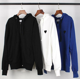 black zipper pulls Australia - Brand fashion love hooded sweater men and women plus velvet long-sleeved hoodie couple high quality loose casual zipper pull loose sweater s