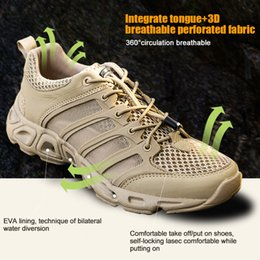 Camp Shoes For Men Australia - New Man Outdoor Sports Camping shoes for Men Tactical Hiking Upstream Shoes For Summer Breathable Waterproof Coating High Quality