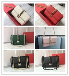 103b3b12b8c9 Army bAg price online shopping - price new arrival women s shoulder bags  solid riveted genuine