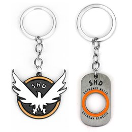 $enCountryForm.capitalKeyWord Australia - PS4 Game Tom Clancy's The Division Key Chains Holder Fashion Metal Letter SHD Logo Dog Tags Pendant Keyrings Keychain Jewelry