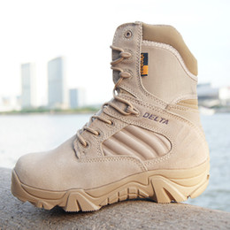 """$enCountryForm.capitalKeyWord Australia - Hiking Outdoor Boots For Men Breathable Leather Zipper Military Tactical Boot Man Camping Climbing Trekking 7"""" Delta Tactical Boots Shoes"""
