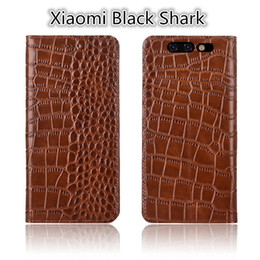 shark black NZ - QX02 Genuine Leather Flip Case Stand Coque For Xiaomi Black Shark Phone Case For Xiaomi Black Shark Phone Bag With Stand Coque