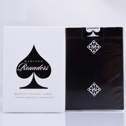 Wholesale black magic for sale – custom 1pcs Ellusionist Madison Rounders Black Deck High Quality Magic Cards Playing Card Poker Close Up Stage Magic Tricks Props