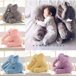 $enCountryForm.capitalKeyWord Australia - 60cm 40cm Plush Elephant Toy Baby Sleeping Back Cushion Soft stuffed animals Pillow Elephant Doll Newborn Playmate Doll Kids toys squishy
