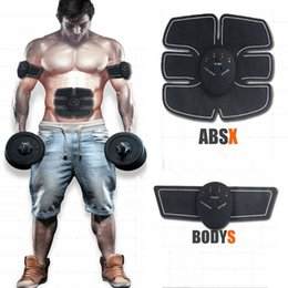 Wholesale Hot Electric EMS Muscle Stimulator abs Abdominal Muscle Toner Body Fitness Shaping Massage Patch Silimming Trainer Exerciser Unisex