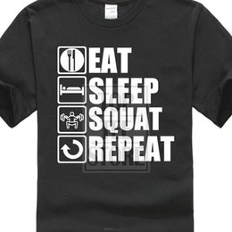 $enCountryForm.capitalKeyWord Australia - Design Your Own Shirt O - Neck Short Eat Sleep Squat Mens Tee For Sale 3d Men Hot Cheap Black Male Tshirt