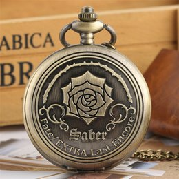 antique watch pendant necklaces NZ - Bronze Rose Display Full Hunter Pocket Watch Quartz Antique Pendant Watch Exquisite Necklace Timepiece Retro Clock Gifts