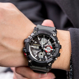 luxury watches g shock Australia - New Fashion Luxury Compass Men's Designer Watch All Features Work Thermometer World Time G Style Shock Man Watches Wholesale Big Bang Clock