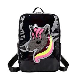 $enCountryForm.capitalKeyWord Australia - Free DHL 2019 Sequin Unicorn Backpack Lovely Cartoon School Bag Bling Students Backpacks Travel Shoulder Bags 4 Colors Knapsack Gift M195F
